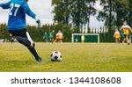 soccer football goalkeeper goal ...   Shutterstock . vector #1344108608