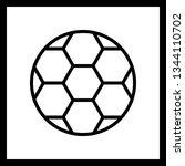 illustration football icon  | Shutterstock . vector #1344110702