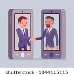 mobile male deal  commercial... | Shutterstock .eps vector #1344115115