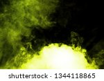 yellow smoke blow from... | Shutterstock . vector #1344118865