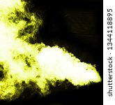 yellow smoke blow from... | Shutterstock . vector #1344118895