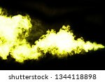 yellow smoke blow from... | Shutterstock . vector #1344118898