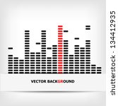 monochrome digital equalizer... | Shutterstock .eps vector #134412935