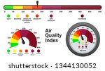 air quality index numerical... | Shutterstock .eps vector #1344130052