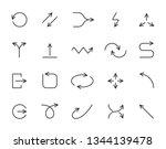 arrow thin line icon set.... | Shutterstock .eps vector #1344139478