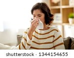 healthcare  cold  allergy and... | Shutterstock . vector #1344154655