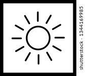 illustration sun icon  | Shutterstock . vector #1344169985