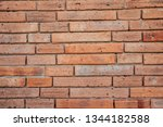detailed red brick wall... | Shutterstock . vector #1344182588