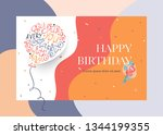 happy birthday greeting card... | Shutterstock .eps vector #1344199355