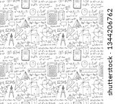 seamless pattern with hand... | Shutterstock .eps vector #1344206762