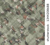 Seamless illustrations- texture background. Pattern abstract uniform - the camouflage design that hides soldiers from the enemy. Spots on fabrics- camo textile geometric art - stock photo
