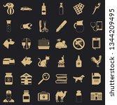 veterinary doctor icons set.... | Shutterstock .eps vector #1344209495