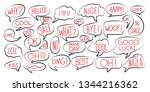 set of various stickers of... | Shutterstock .eps vector #1344216362