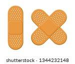 plaster  bandage vector set | Shutterstock .eps vector #1344232148