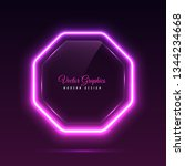 octagonal glass banner.... | Shutterstock .eps vector #1344234668