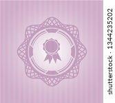 ribbon icon inside vintage pink ... | Shutterstock .eps vector #1344235202