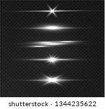 white glowing light explodes on ... | Shutterstock .eps vector #1344235622