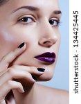 multicolored creativity make up....   Shutterstock . vector #134425445