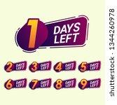 set of number days left... | Shutterstock .eps vector #1344260978