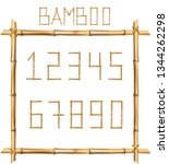 vector bamboo numerals digits...   Shutterstock .eps vector #1344262298