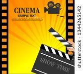 movie and film modern retro...   Shutterstock .eps vector #1344265142