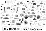 pencil doodle different circles.... | Shutterstock .eps vector #1344273272