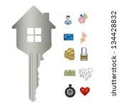 illustration of real estate... | Shutterstock .eps vector #134428832