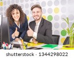 portrait of a two successful... | Shutterstock . vector #1344298022