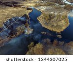 the smoke from the burning of... | Shutterstock . vector #1344307025