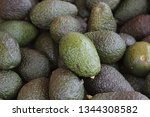 close up photo of avocados at... | Shutterstock . vector #1344308582