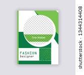 green color social media banner ... | Shutterstock .eps vector #1344314408