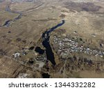aerial view of the saburb... | Shutterstock . vector #1344332282
