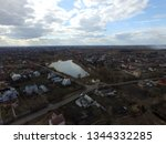 aerial view of the saburb... | Shutterstock . vector #1344332285