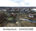 aerial view of the saburb... | Shutterstock . vector #1344332288