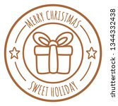 christmas mail stamps vector .... | Shutterstock .eps vector #1344332438