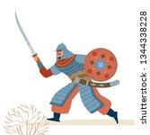 strong warrior character vector ...   Shutterstock .eps vector #1344338228