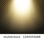 yellow glowing light explodes... | Shutterstock .eps vector #1344343688