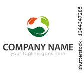 leaf logo template | Shutterstock .eps vector #1344347285