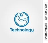 technology vector logo design | Shutterstock .eps vector #1344359135