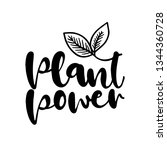 plant power   go healthy  vegan ... | Shutterstock .eps vector #1344360728