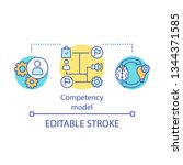 competency model concept icon.... | Shutterstock .eps vector #1344371585