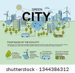 green city  smart city concept. ... | Shutterstock .eps vector #1344386312