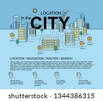 panorama of the city  buildings ... | Shutterstock .eps vector #1344386315