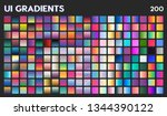 200 ui gradient color swatches. ... | Shutterstock .eps vector #1344390122