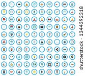 100 java icons set in flat... | Shutterstock .eps vector #1344392318