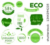 healthy food icons  labels.... | Shutterstock .eps vector #1344394235