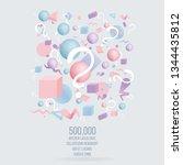 3d figures realistic vector...   Shutterstock .eps vector #1344435812