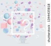 3d figures realistic vector...   Shutterstock .eps vector #1344435818