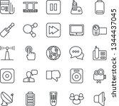 thin line icon set   satellite... | Shutterstock .eps vector #1344437045