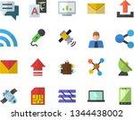 color flat icon set satellite...   Shutterstock .eps vector #1344438002